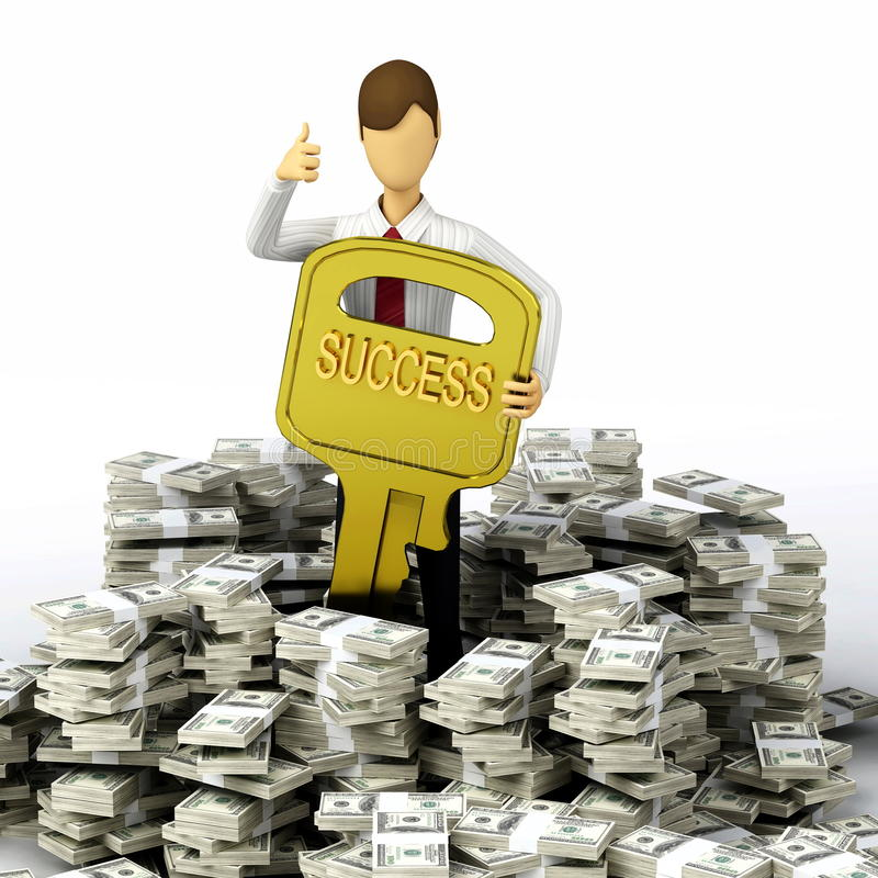финансовохозяйственный ключевой успех к бесплатная иллюстрация