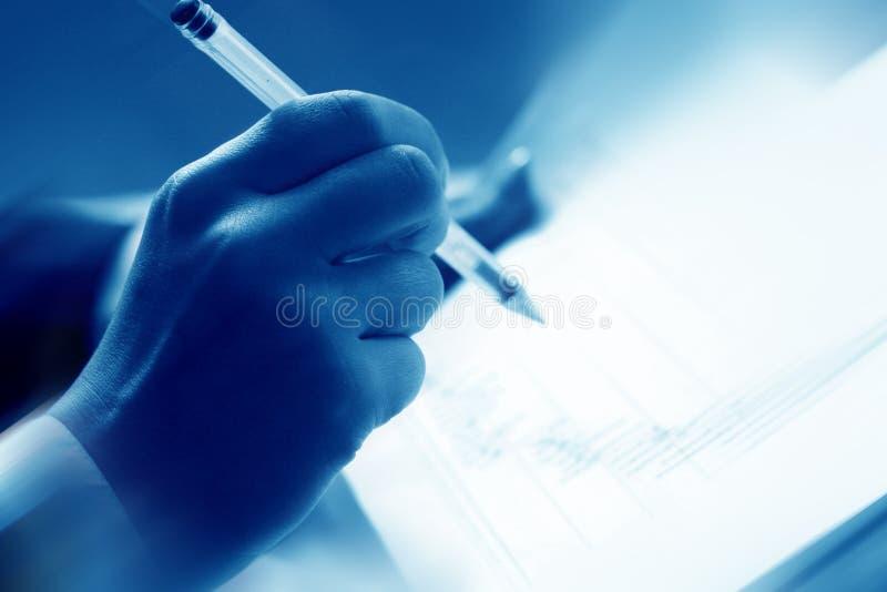 финансовохозяйственный прочитанный рапорт стоковые изображения