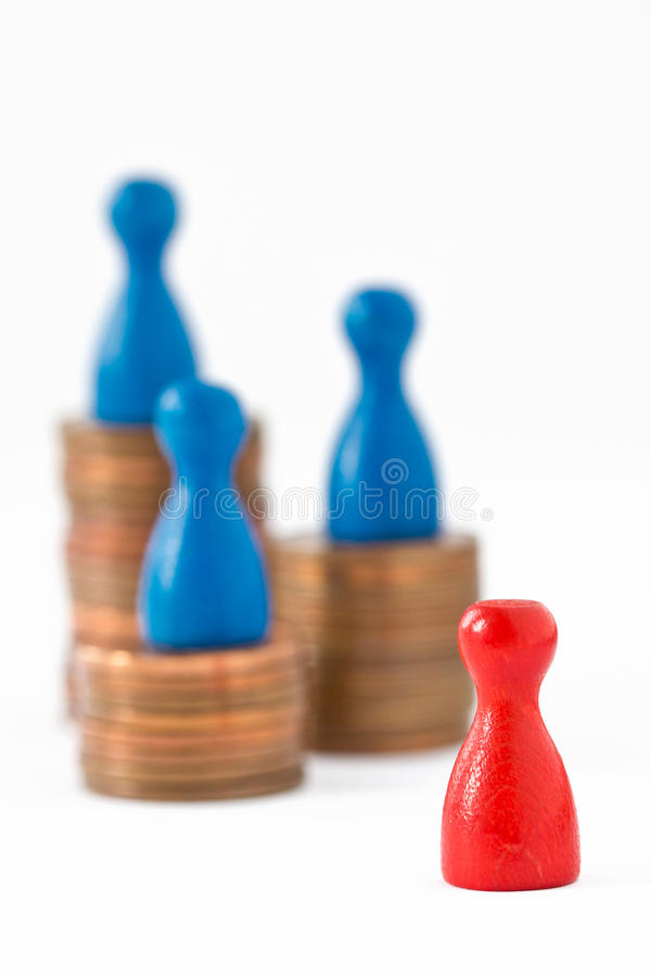 Финансово левое заднее II стоковые фото