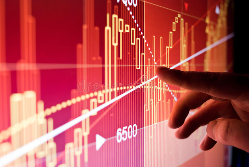 Финансовые данные по фондовой биржи стоковое изображение rf