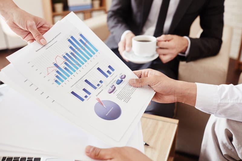 Финансовые данные стоковая фотография