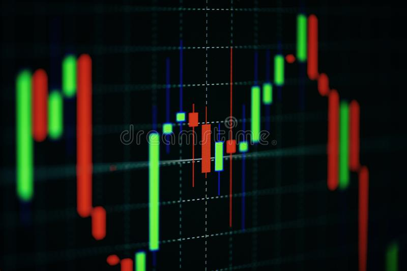 Финансовые диаграммы дела концепции диаграммы фондовой биржи капиталовложений предприятий и будущей торговли/индикатора запаса вс стоковые изображения rf