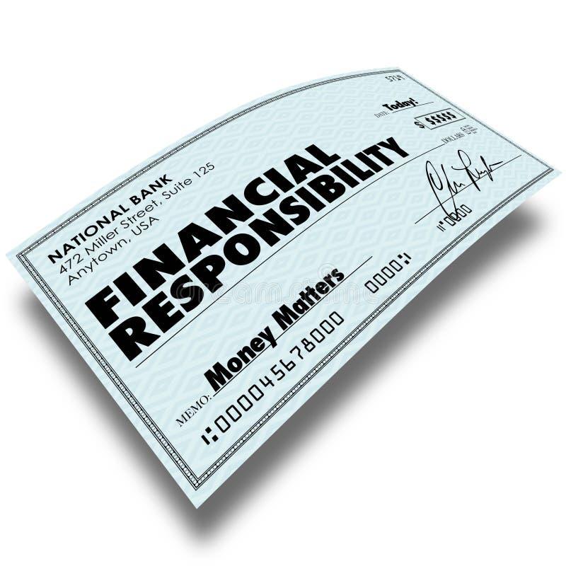 Финансовые задолжанные деньги оплаты Билла проверки ответственности оплачивающ De иллюстрация вектора