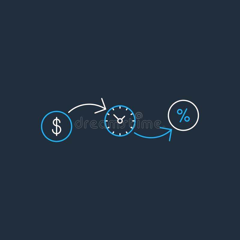 Финансовые инвестиции концепция, значок страхования денег, пенсионный фонд бесплатная иллюстрация