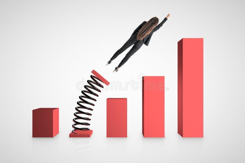 Финансовые рост и профессиональная карьера иллюстрация вектора
