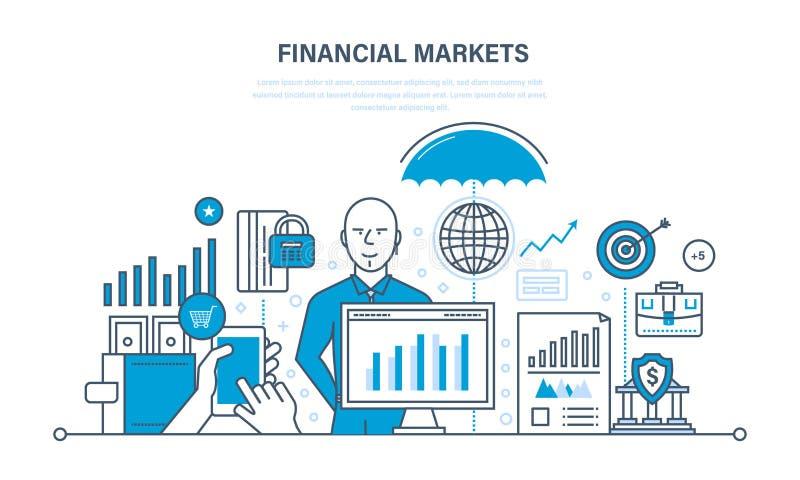 Финансовые рынки, банк, защита депозитов, доход, сбережения, вклады бесплатная иллюстрация