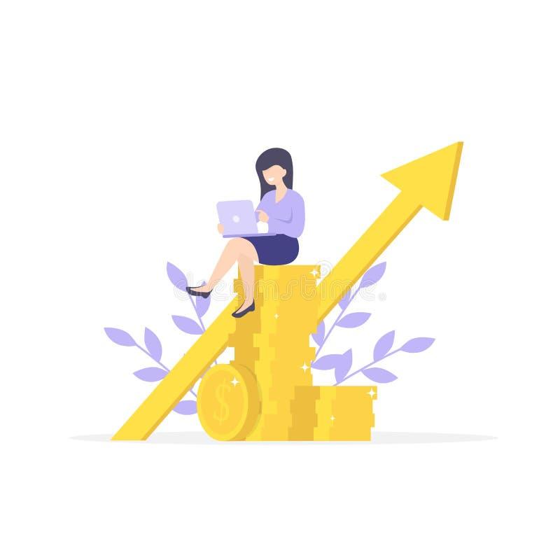 Финансовые советовать с, вклад и сбережения иллюстрация штока