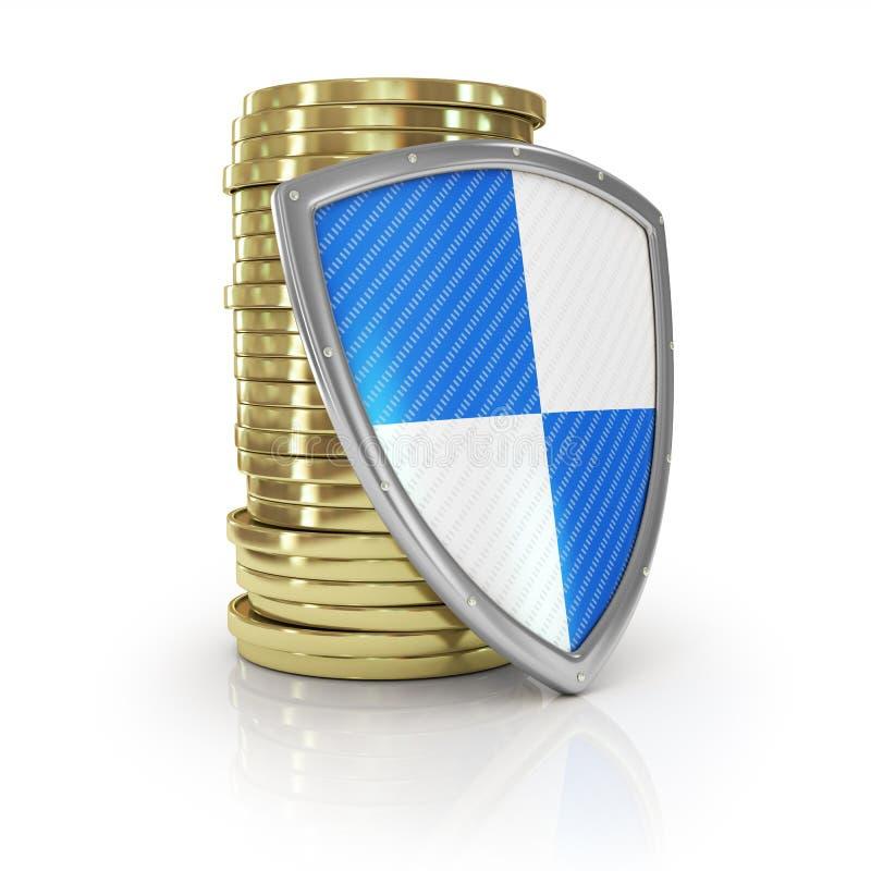 Финансовые страхование и концепция стабильности дела стоковое изображение rf