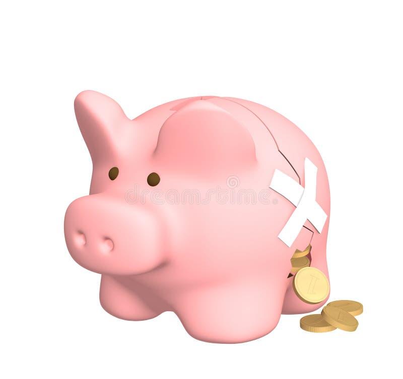 финансовые убытки иллюстрация вектора