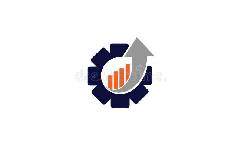 Финансовый вектор значка логотипа шестерни иллюстрация штока