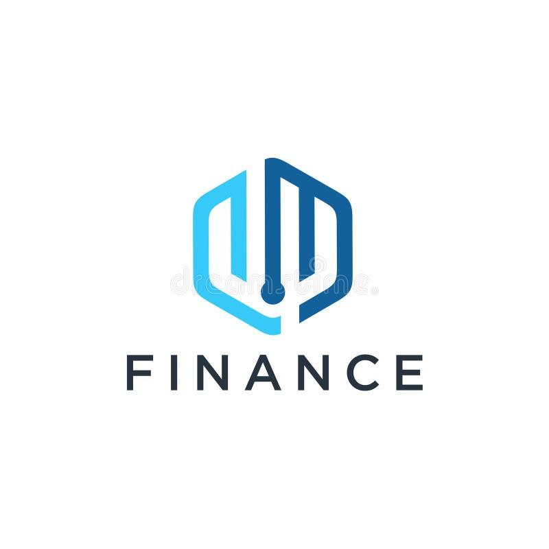 Финансовый значок вектора шаблона дизайна логотипа советников иллюстрация вектора