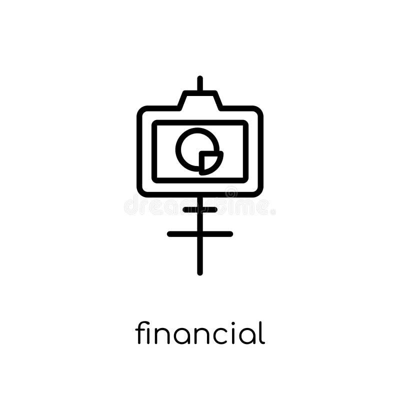 Финансовый значок представления  иллюстрация штока