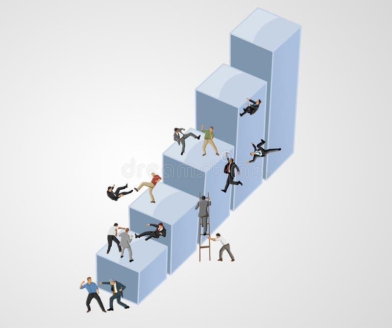 Финансовый кризис. иллюстрация штока