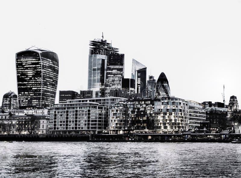 Финансовый район в Лондоне стоковое фото