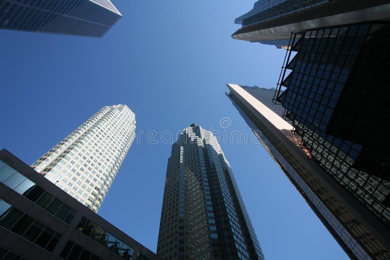 финансовый район городской стоковые фотографии rf