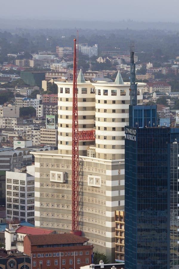 Финансовый район Найроби, Кения, редакционная стоковое изображение rf