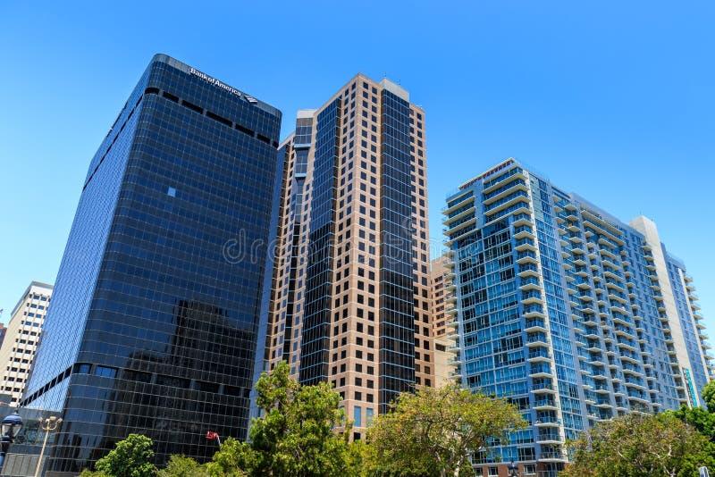 Финансовый район Сан-Диего стоковое изображение