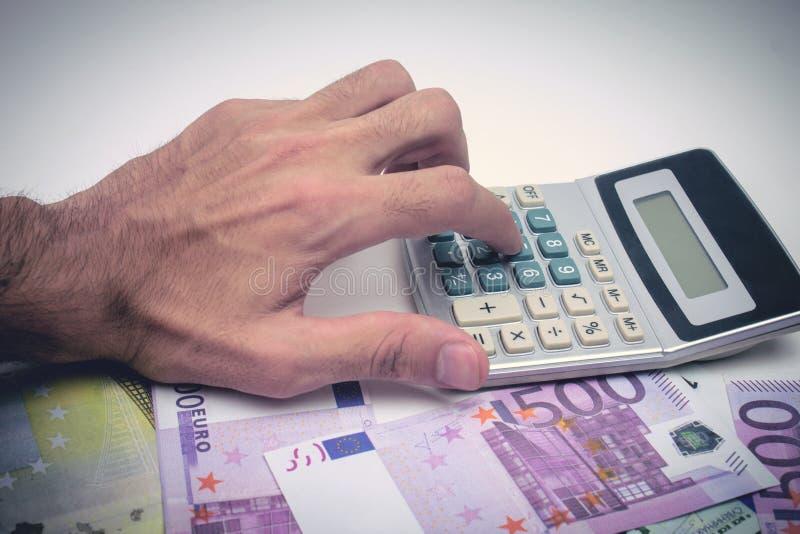 Финансовый учет с бумажными отчетами стоковая фотография rf