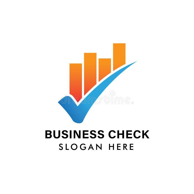 финансовый шаблон логотипа дела иллюстрация значка проверки дела бесплатная иллюстрация