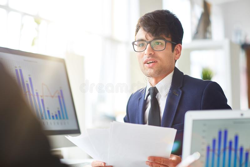 Финансовый эксперт стоковое изображение rf