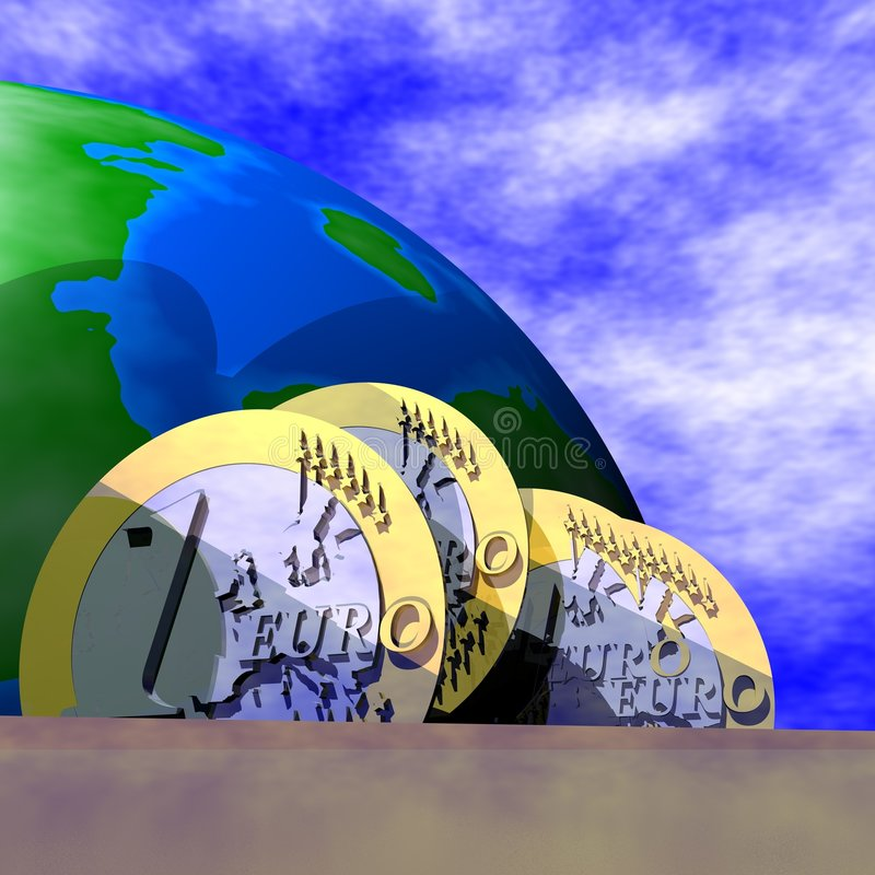 финансы евро дела иллюстрация вектора