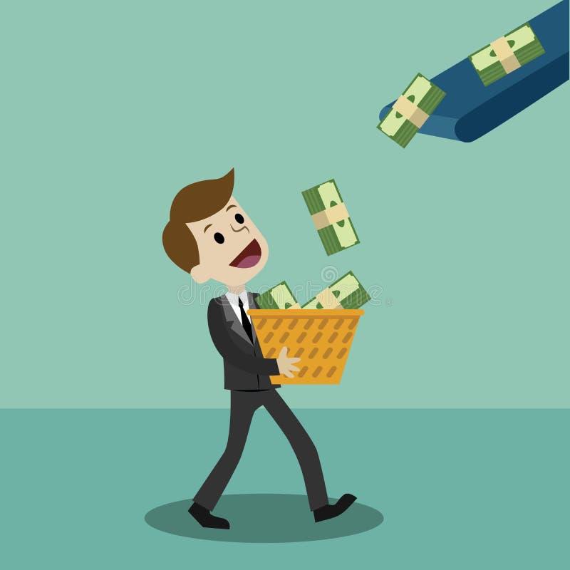 Финансы и деньги, дело имеют выгоду иллюстрация штока