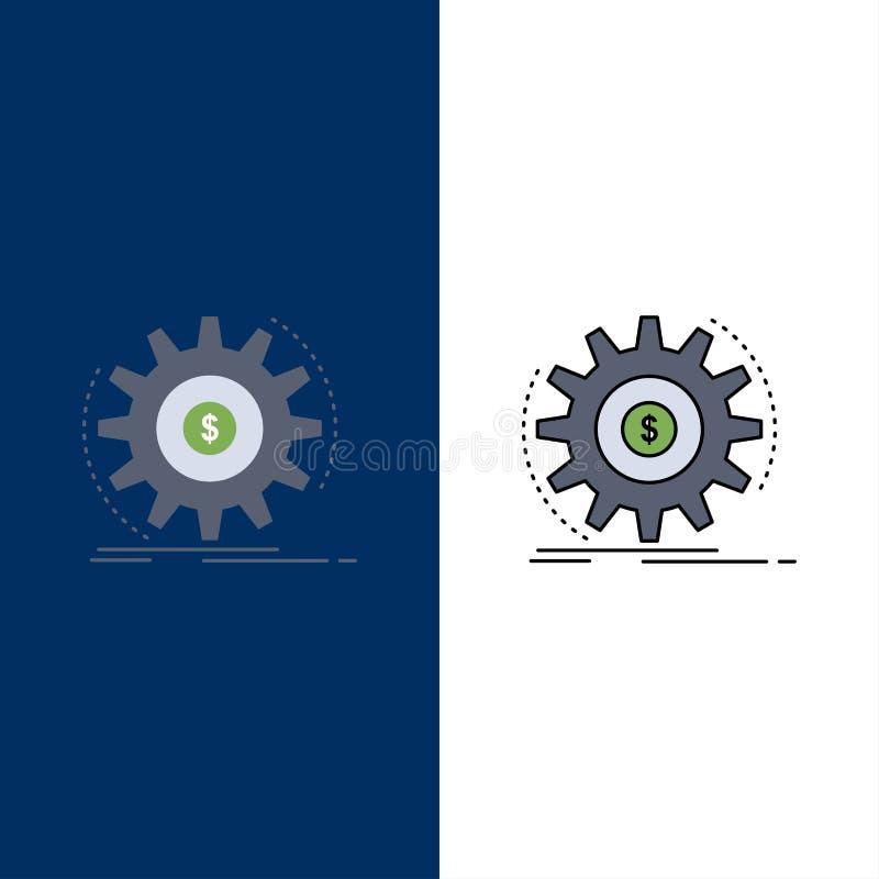 Финансы, подача, доход, делая, вектор значка цвета денег плоский иллюстрация штока