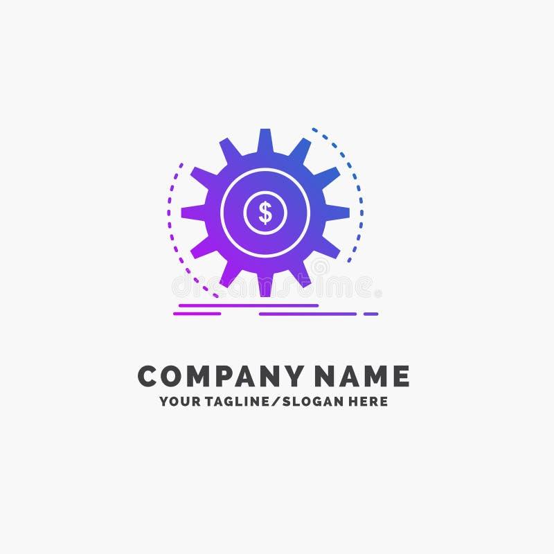 Финансы, подача, доход, делая, шаблон логотипа дела денег пурпурный r бесплатная иллюстрация