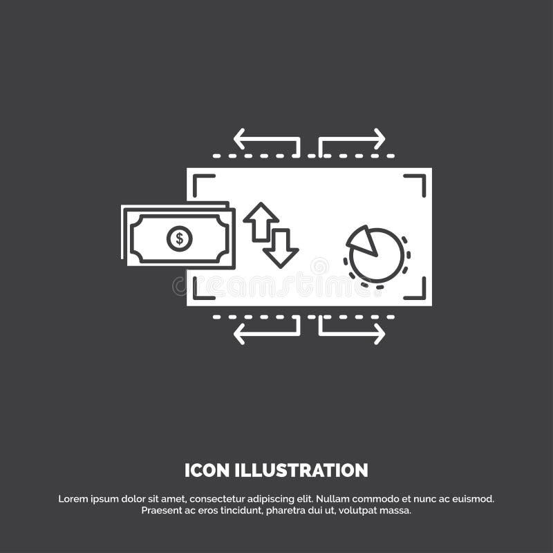 Финансы, подача, маркетинг, деньги, значок оплат r иллюстрация вектора
