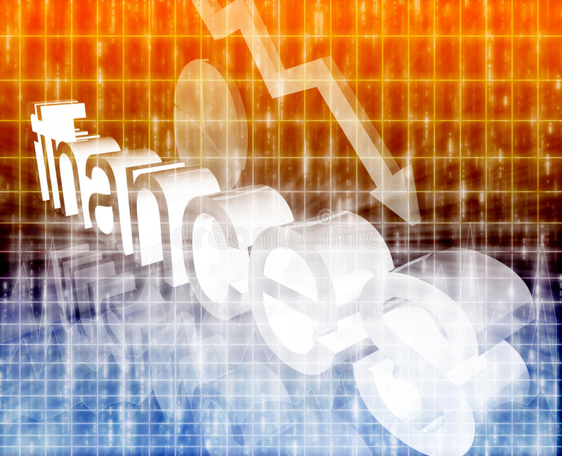 финансы экономии принципиальной схемы ухудшая бесплатная иллюстрация