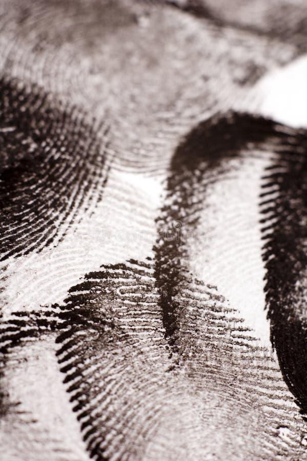 фингерпринты стоковое изображение rf
