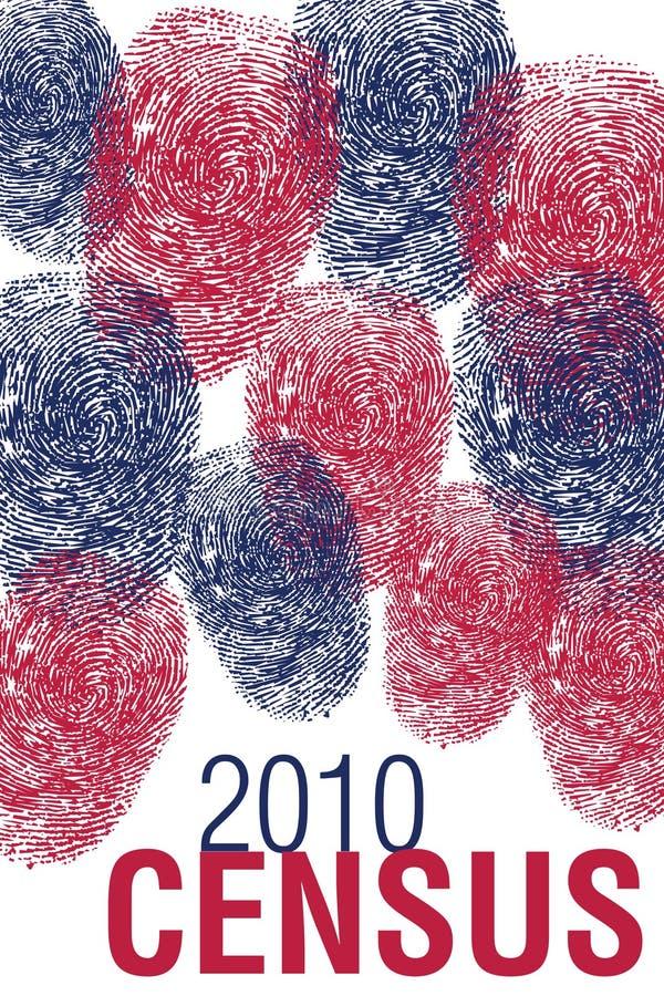 фингерпринты 2010 переписи иллюстрация вектора