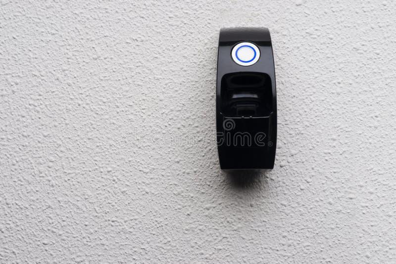 Фингерпринт нужный для того чтобы раскрыть дверь стоковая фотография