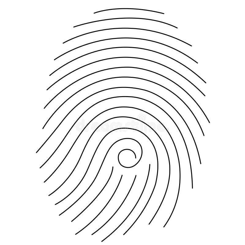 фингерпринт иллюстрация вектора