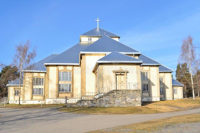 Финляндия Церковь лютеранина в Mikkeli стоковое фото