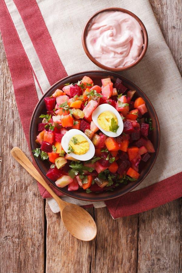 Финские овощи салата rosolli украсили конец-вверх яичек Vertic стоковое фото