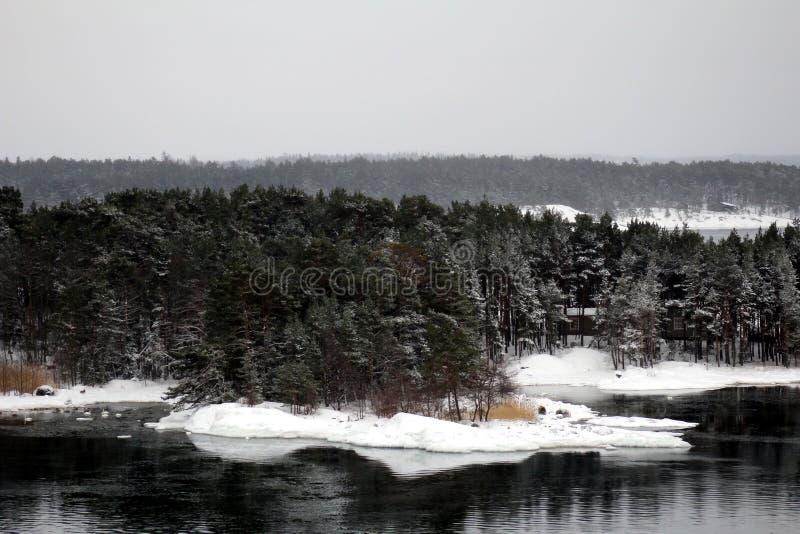 Финский архипелаг стоковые фотографии rf