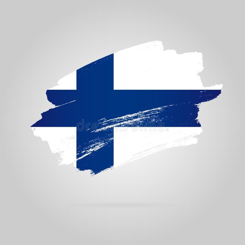 Финский флаг r бесплатная иллюстрация
