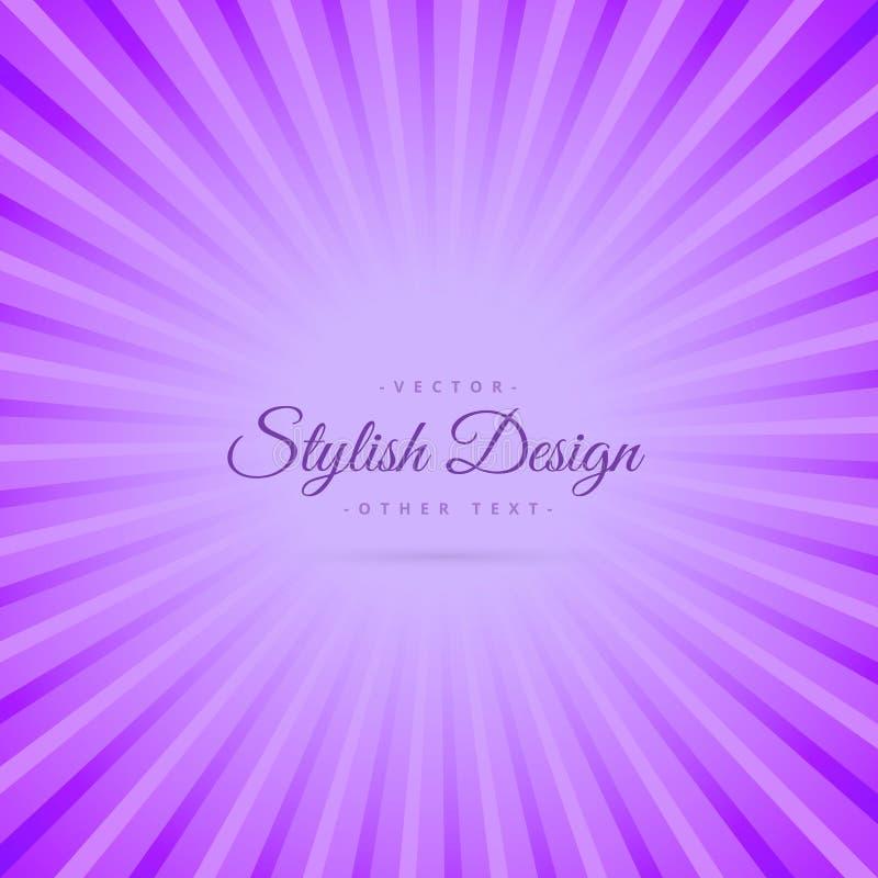 Фиолетовая абстрактная предпосылка с лучами иллюстрация вектора