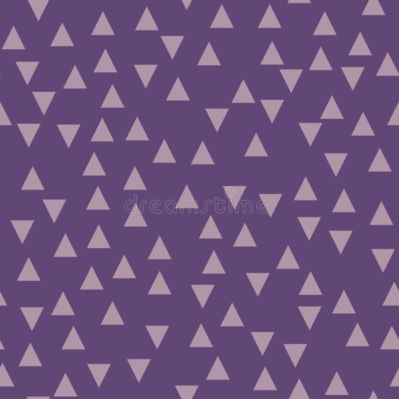 Фиолетовая геометрическая предпосылка с треугольниками картина безшовная Модный цвет также вектор иллюстрации притяжки corel иллюстрация штока