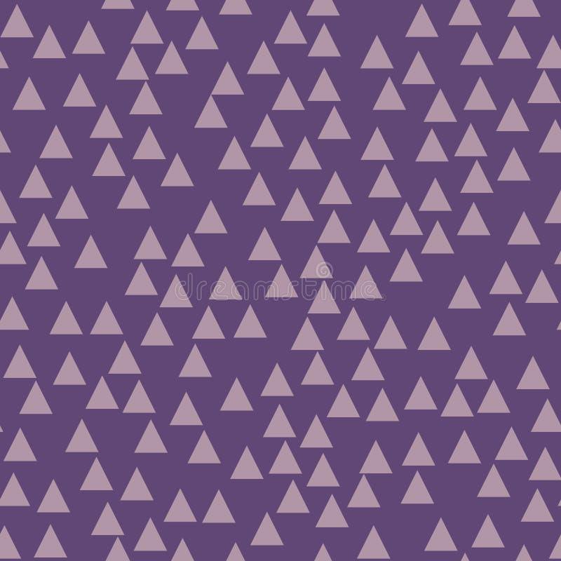 Фиолетовая геометрическая предпосылка с треугольниками картина безшовная Модный цвет также вектор иллюстрации притяжки corel иллюстрация вектора