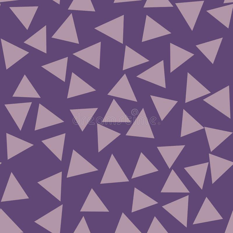 Фиолетовая геометрическая предпосылка с треугольниками картина безшовная Модный цвет также вектор иллюстрации притяжки corel бесплатная иллюстрация