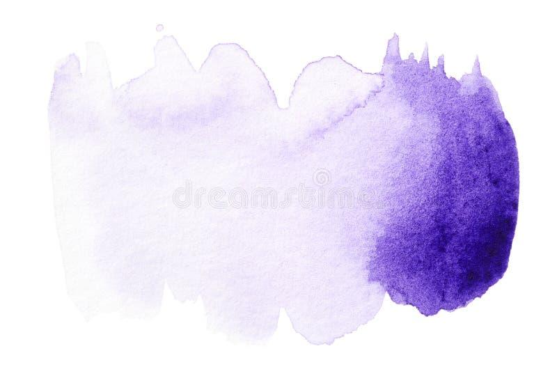 Фиолетовая нарисованная рука выплеска акварели стоковые фотографии rf