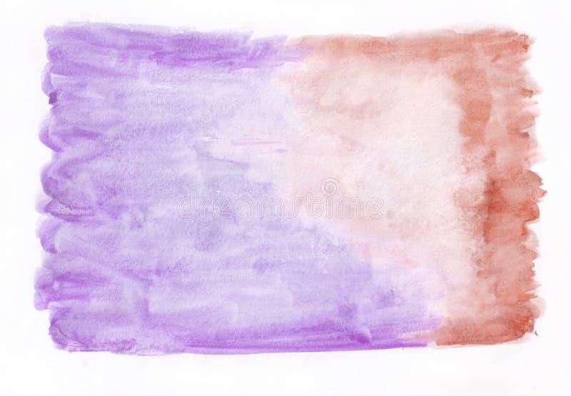 Фиолетовая орхидея и красная малиновая смешанная абстрактная предпосылка акварели Оно ` s полезное для поздравительных открыток,  бесплатная иллюстрация
