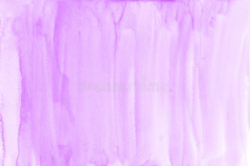 Фиолетовая предпосылка акварели на бумажной текстуре может использовать как templat стоковые изображения rf