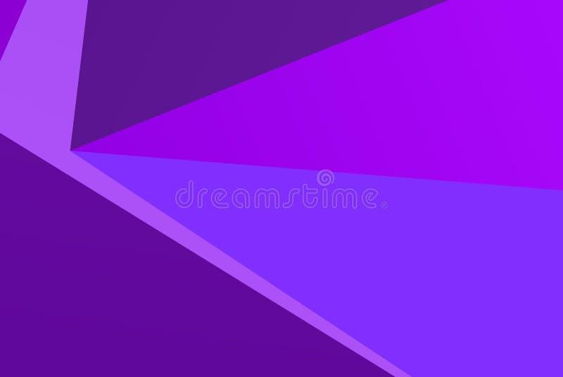 Фиолетовая предпосылка с предпосылкой треугольников простой геометрической с градиентом формирует Треугольники различного масштаб бесплатная иллюстрация