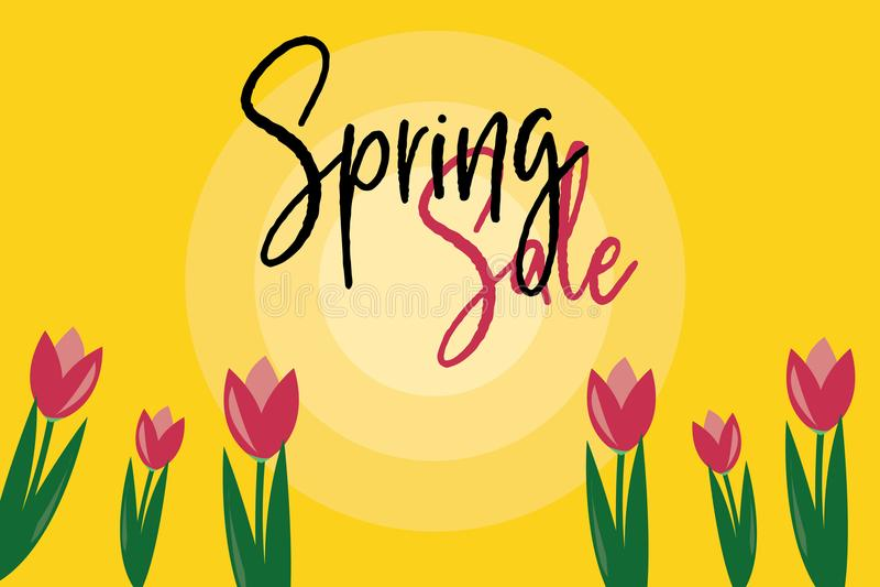 Фиолетовая продажа весны тюльпана стоковые фотографии rf