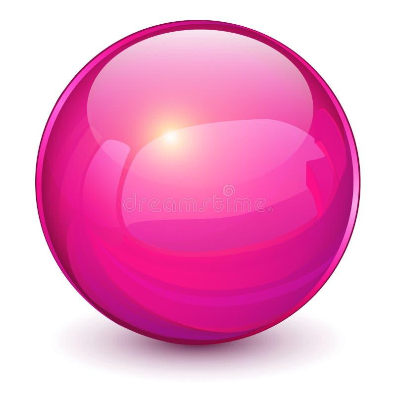 Фиолетовая сфера 3D иллюстрация штока