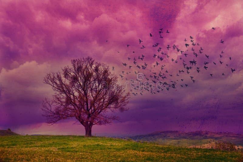 Фиолетовая фантазия иллюстрация штока