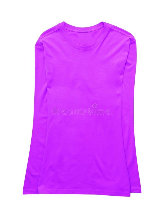 Фиолетовая фуфайка спорта изолированная на белизне стоковая фотография rf